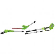 Greenworks Akumulatorowa Pilarka + Nożyce na wysięgniku 2w1 24V (1302007) --- OFICJALNY SKLEP Greenworks Tools