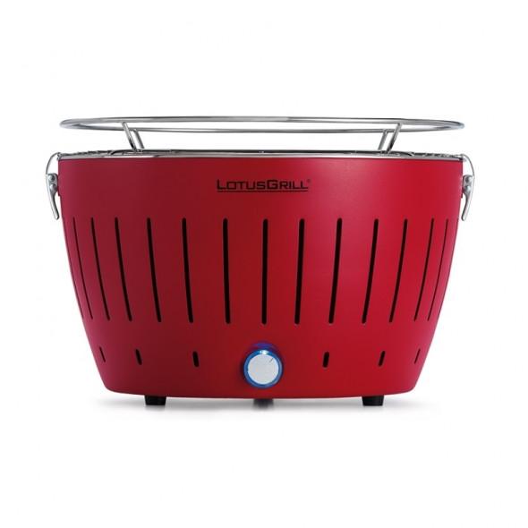 Grill węglowy LotusGrill Standard czerwony --- OFICJALNY SKLEP LotusGrill