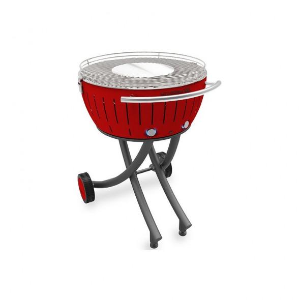 Grill węglowy LotusGrill XXL ze stojakiem, czerwony --- OFICJALNY SKLEP LotusGrill