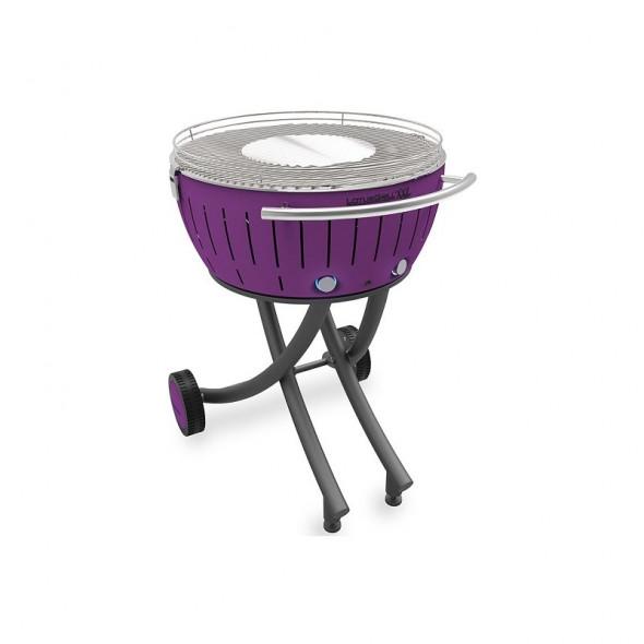 Grill węglowy LotusGrill XXL ze stojakiem, fioletowy --- OFICJALNY SKLEP LotusGrill