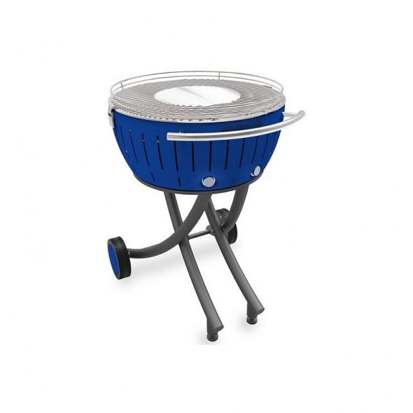 Grill węglowy LotusGrill XXL ze stojakiem, niebieski --- OFICJALNY SKLEP LotusGrill