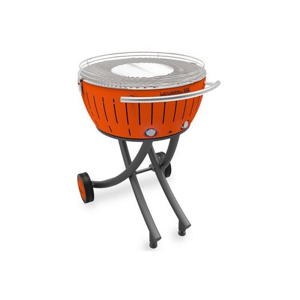 Grill węglowy LotusGrill XXL ze stojakiem, pomarańczowy --- OFICJALNY SKLEP LotusGrill