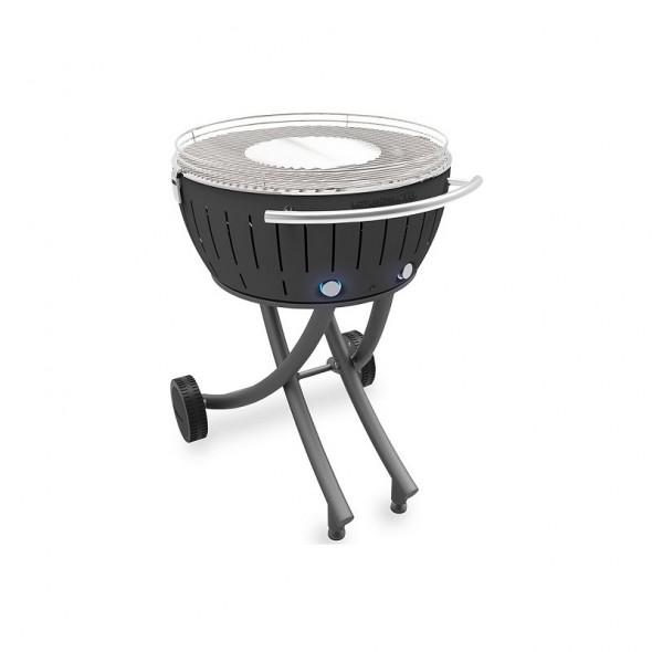 Grill węglowy LotusGrill XXL ze stojakiem, szary --- OFICJALNY SKLEP LotusGrill