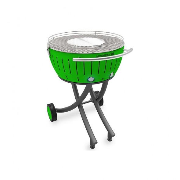 Grill węglowy LotusGrill XXL ze stojakiem, zielony --- OFICJALNY SKLEP LotusGrill