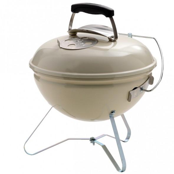 Grill węglowy przenośny Weber Smokey Joe Premium 37 cm kremowy (1125004) --- CERTYFIKOWANY PARTNER Weber WORLD