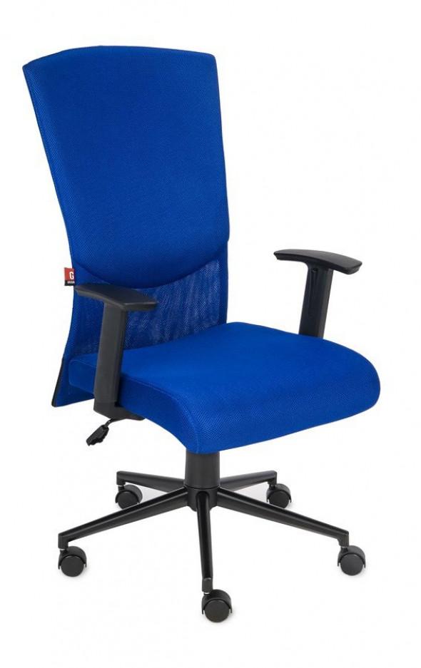 Grospol Fotel biurowy Basic niebieski (mechanizm Tilt 2) --- OFICJALNY SKLEP Grospol