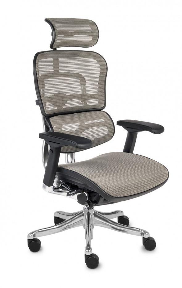 Grospol Fotel biurowy Ergohuman Plus Elite BS szary (KMD30) --- OFICJALNY SKLEP Grospol