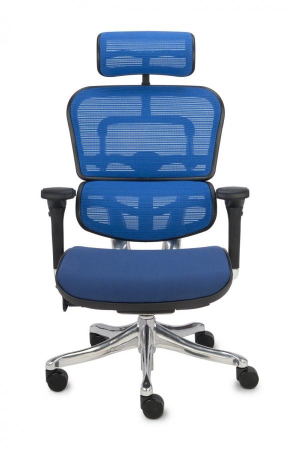 Grospol Fotel biurowy Ergohuman Plus Elite BT niebieski (KMD35) --- OFICJALNY SKLEP Grospol
