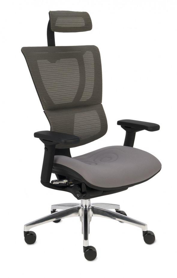 Grospol Fotel biurowy Ioo BT czarny / szary (KMD30) --- OFICJALNY SKLEP Grospol