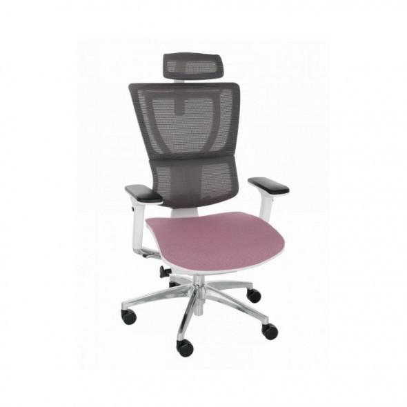 Grospol Fotel biurowy Ioo W B Color Tkanina Flex - 8 kolorów --- OFICJALNY SKLEP Grospol
