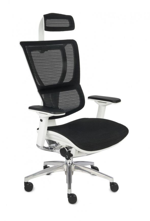 Grospol Fotel biurowy Ioo WS biały / czarny (KMD31) --- OFICJALNY SKLEP Grospol