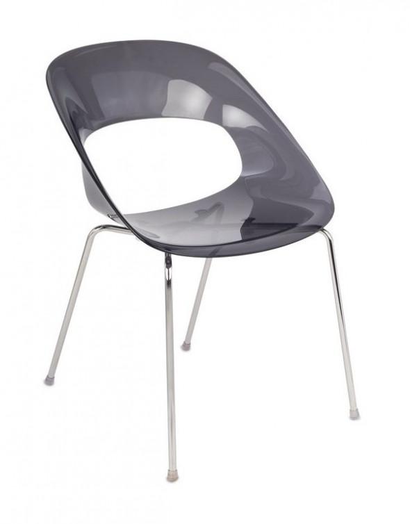 Krzesło Grospol TRIBECA przeźroczysty grafit --- OFICJALNY SKLEP Grospol