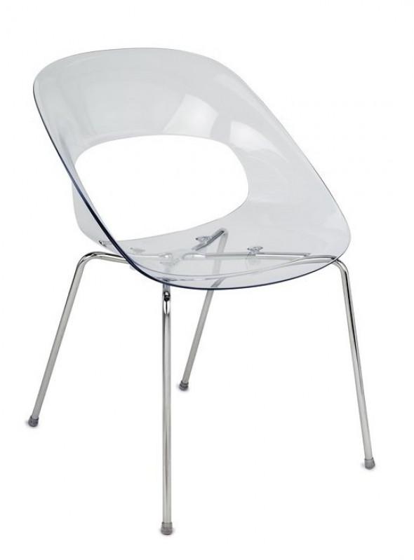 Krzesło Grospol TRIBECA przeźroczysty --- OFICJALNY SKLEP Grospol