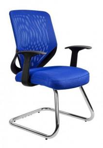 UNIQUE fotel biurowy MOBI SKID niebieski (W-953-7) --- OFICJALNY SKLEP Unique