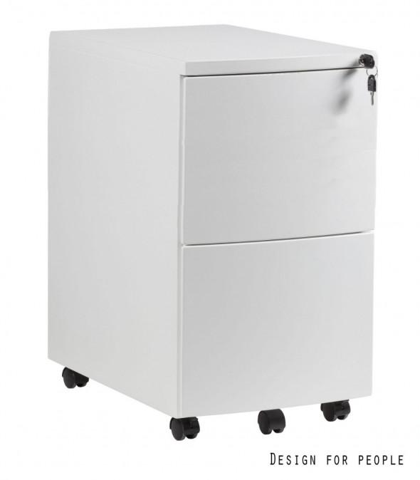 UNIQUE Kontener szafka biurowa (RPH-02) biały, srebrny, czarny --- OFICJALNY SKLEP Unique