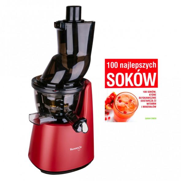 Wyciskarka wolnoobrotowa do soków Kuvings D9900 czerwona + książka 100 soków --- OFICJALNY SKLEP Kuvings