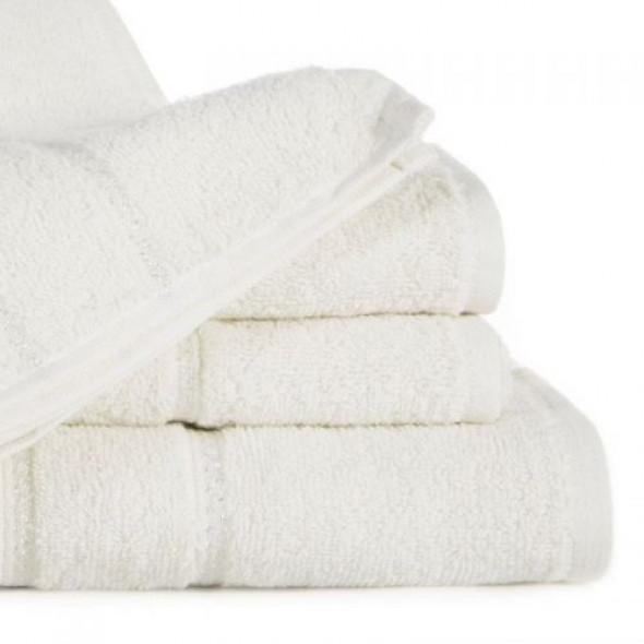 Jednobarwny ręcznik kąpielowy z naturalnej bawełny kremowy