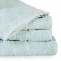 Jednobarwny ręcznik kąpielowy z naturalnej bawełny miętowy
