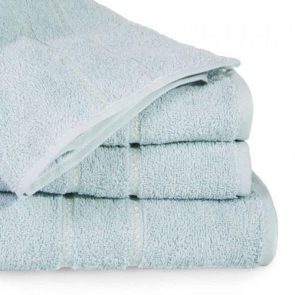Jednobarwny ręcznik kąpielowy z naturalnej bawełny niebieski