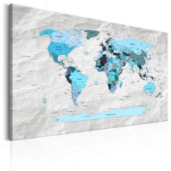 Obraz - Mapa świata: Błękitne pielgrzymki