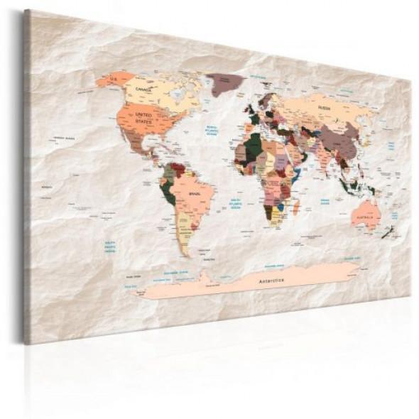 Obraz - Mapa świata: Kamienne oceany