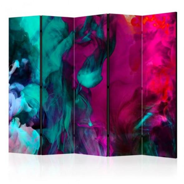 Parawan 5-częściowy - Szaleństwo kolorów II [Room Dividers]