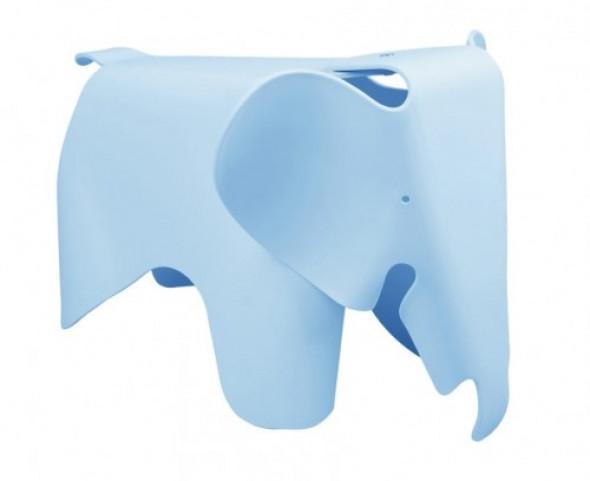 Designerski stołek Elephant błękitny
