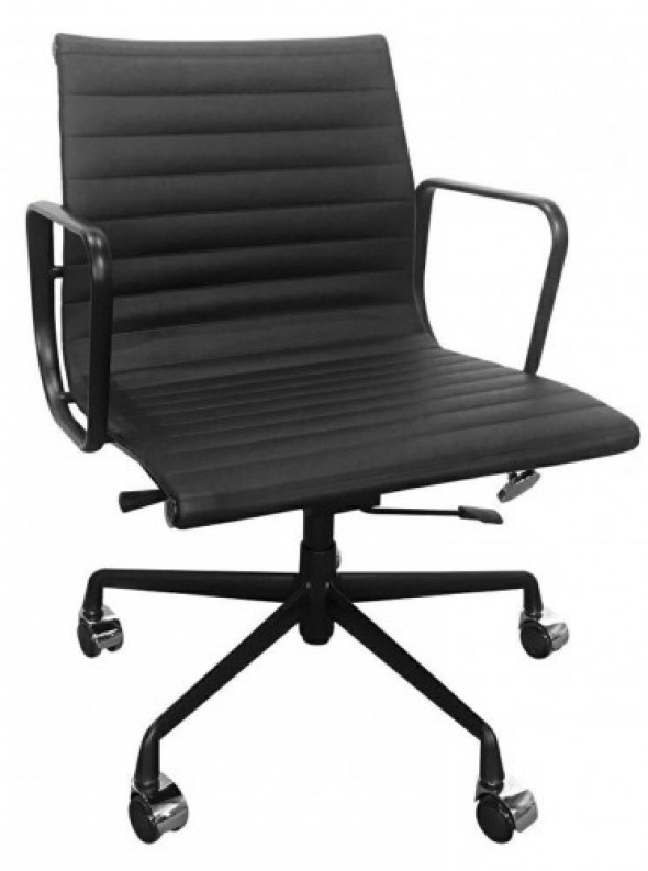 Fotel biurowy CH inspirowany Proj. EA117 ALL BLACK