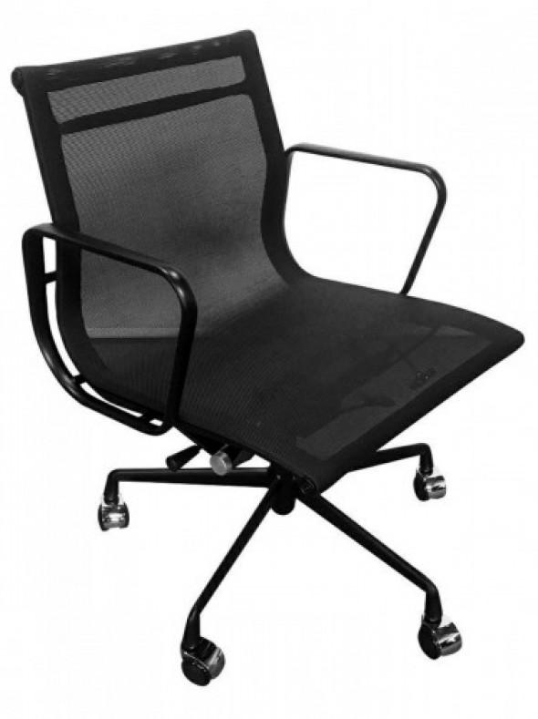 Fotel biurowy CH inspirowany Proj. EA117 siateczka ALL BLACK
