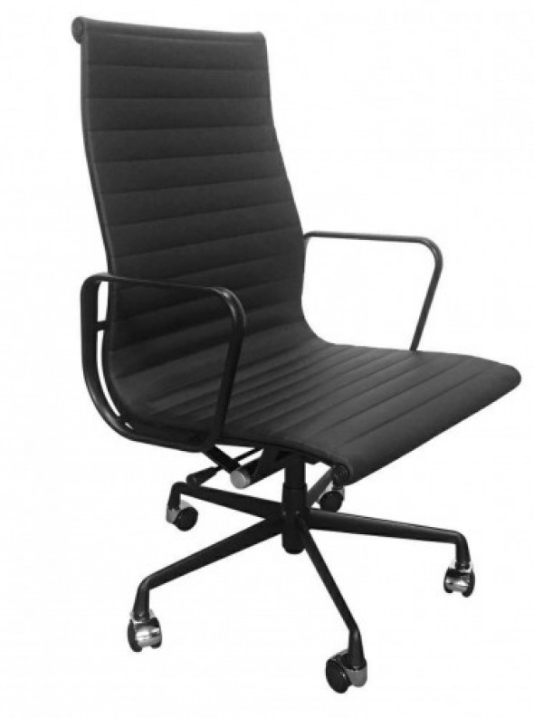 Fotel biurowy CH inspirowany Proj. EA119 ALL BLACK