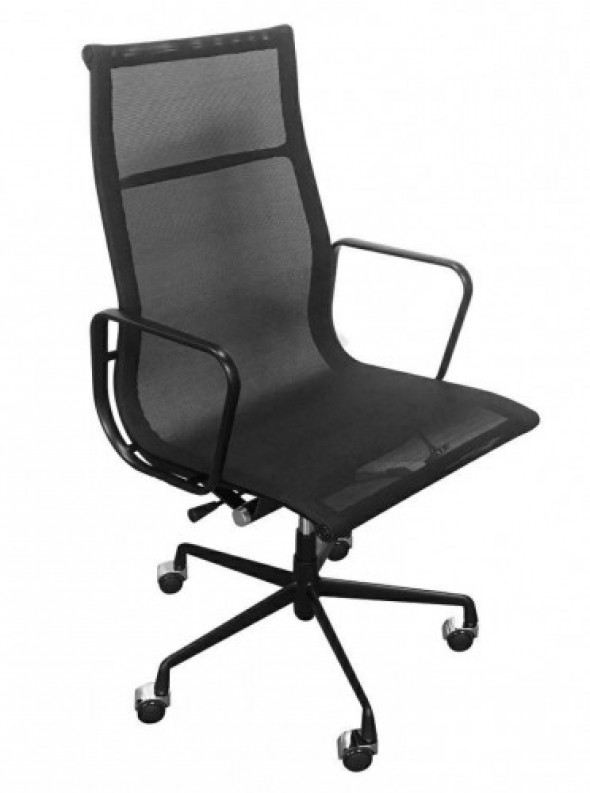 Fotel biurowy CH inspirowany Proj. EA119 siateczka ALL BLACK