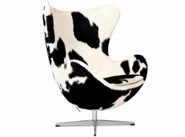 Fotel JAJO inspirowany proj. Egg Chair - skóra pony
