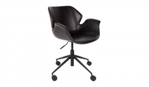 Krzesło biurowe Nikki czarne Zuiver