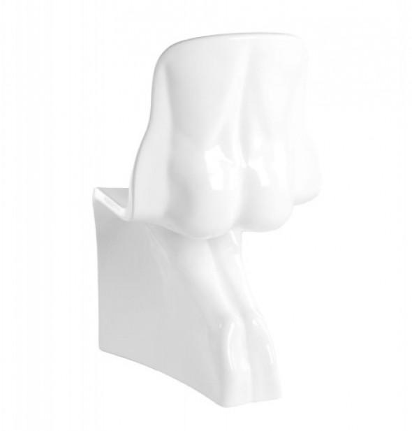 Krzesło HIM białe - włókno szklane