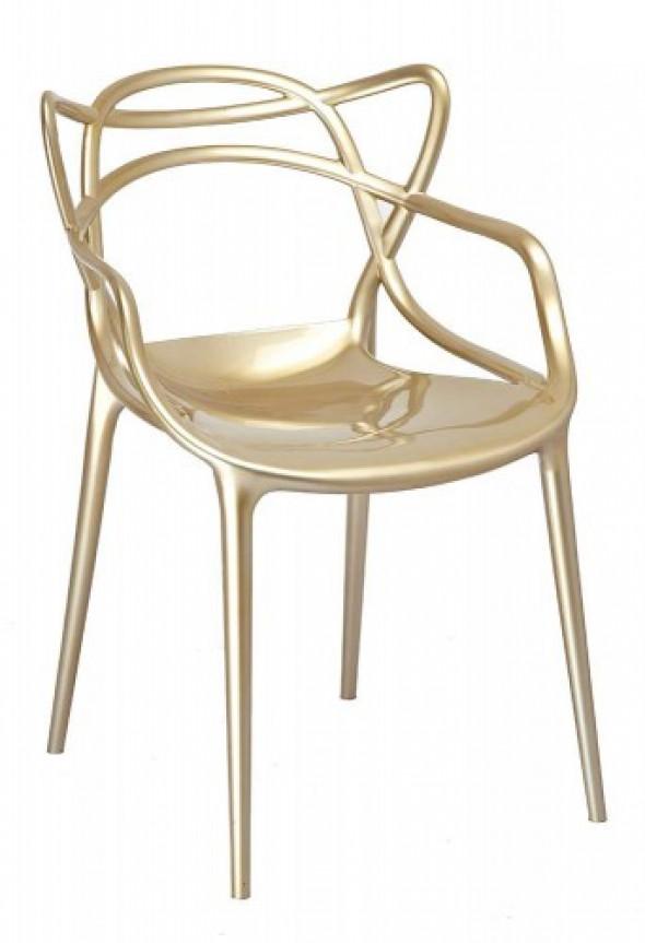 Krzesło Orbit - inspirowane proj. Masters - gold