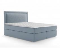 Łóżko kontynentalne Tribeca z pojemnikiem błękitne