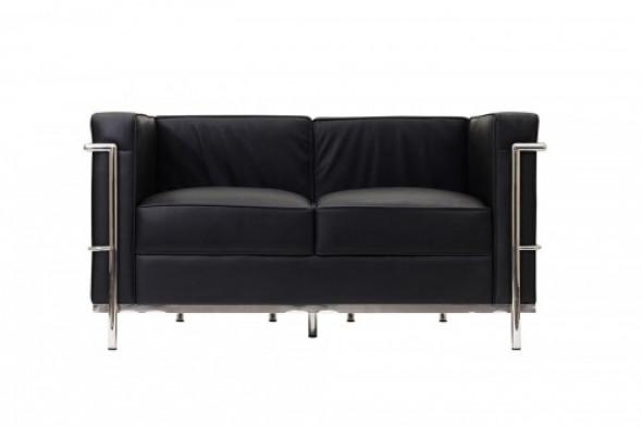 Sofa KUBA II - 2 os.- inspirowana proj. LC2