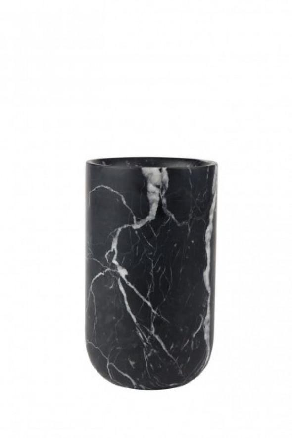 Wazon Fajen marmurowy czarny