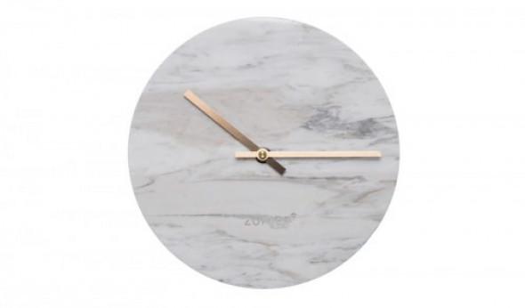 Zegar marmurowy Time biały