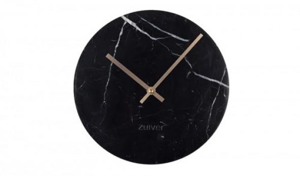 Zegar marmurowy Time czarny