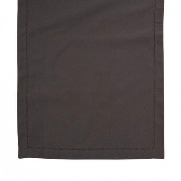 Bieżnik na stół bawełniany brązowy 40 x 140 cm