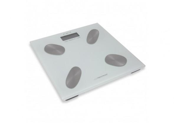 Cyfrowa waga łazienkowa z pomiarem tkanki tłuszczowej cha-cha biała
