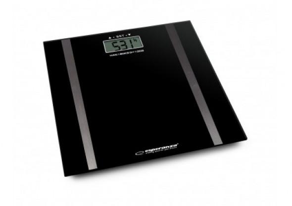 Cyfrowa waga łazienkowa z pomiarem tkanki tłuszczowej samba czarna
