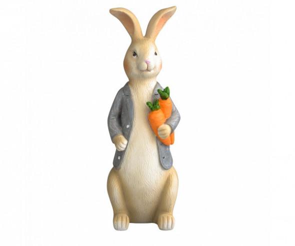 Figurka / ozdoba świąteczna na Wielkanoc Pan Zając 8 x7,5 x 21,5 cm