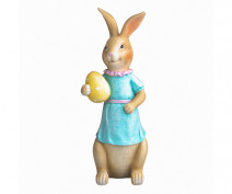 Figurka / ozdoba świąteczna na Wielkanoc Pani Zając 8 x7,5 x 21,5 cm