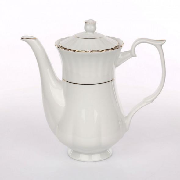 Imbryk do herbaty porcelana Chodzież Iwona Złoty Pasek 1,1 l