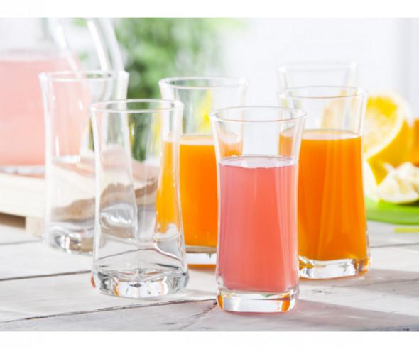 Komplet 6 szklanek Szklanki do napojów Geo long drink 360 ml