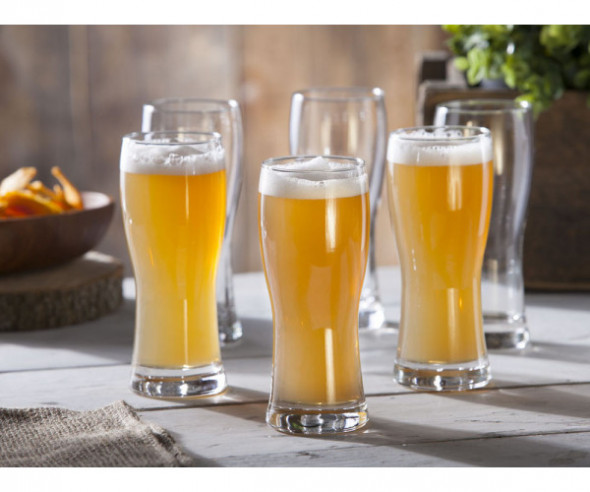 Komplet 6 szt. Szklanki do piwa Hrastnik Praga 350 ml