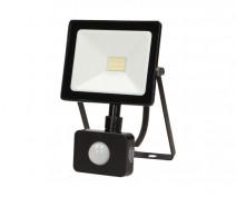 LEDO LED 10W, naświetlacz z czujnikiem ruchu, 800lm, IP44, 4000K, czarny