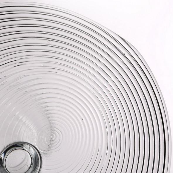 Patera na ciasto i tort / talerz szklany na nóżce Edwanex Spirala 27,5 cm